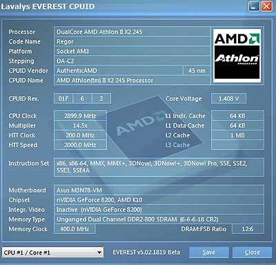 Разгон Процессора Amd Athlon 64 X2 4400+